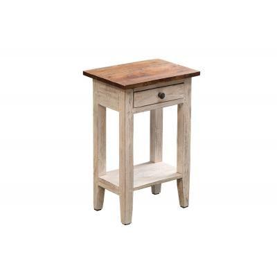 Tömörfa asztalka fiókkal, 51 cm - IBIS